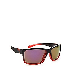Mantaray - Polarized square sports plastic red sunglasses