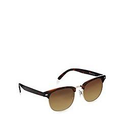 Maine New England - Square retro frame silver tortoiseshell sunglasses