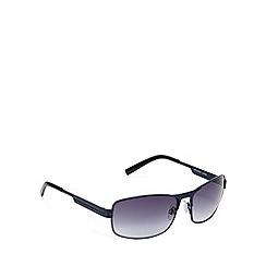 FFP - Light grey lensed rectangular metal framed sunglasses