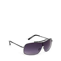 FFP - Light grey lensed metal framed visor sunglasses