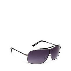 FFP - Light grey lensed metal framed visor sunglasses