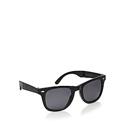 Red Herring - Black folding D-frame sunglasses