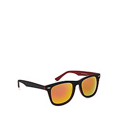 Red Herring - Two tone d frame matt black/red revo sunglasses