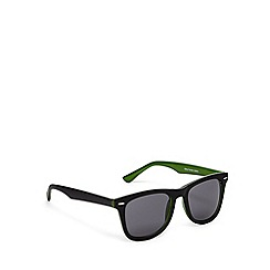 Red Herring - Two tone d frame matt black/green sunglasses