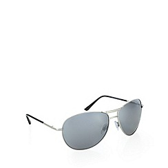 Red Herring - Curved aviator silver sunglasses