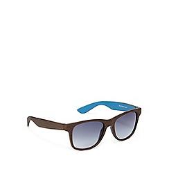 Red Herring - Wood effect d frame brown sunglasses