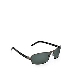 Mantaray - Polarized broad frame black sunglasses