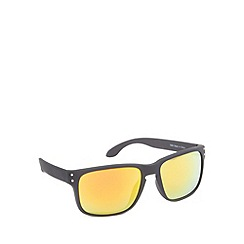 Red Herring - Keyhole square plastic matt black sunglasses