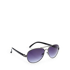 Red Herring - Aviator plastic arms shiny gunmetal sunglasses