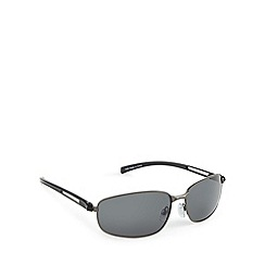 Mantaray - Polarised full frame split temple shiny gunmetal sunglasses