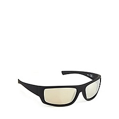 Mantaray - Polarized square wrap matt black sunglasses