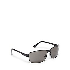 FFP - Grey tinted plastic rectangle sunglasses