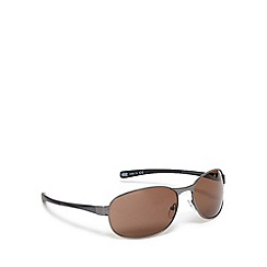 FFP - Brown tinted metal round sunglasses