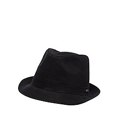 J by Jasper Conran - Designer black cotton trilby hat