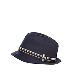 J by Jasper Conran - Navy formal trilby hat