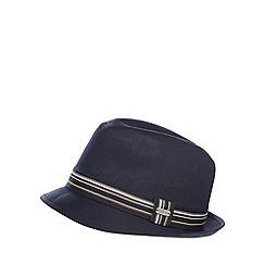 J by Jasper Conran - Navy formal trilby hat
