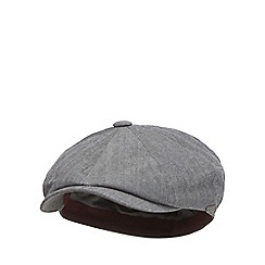 J by Jasper Conran - Grey herringbone baker boy cap