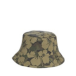 Mantaray - Khaki floral bucket hat
