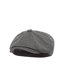 Hammond & Co. by Patrick Grant - Grey herringbone baker boy cap