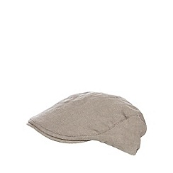 RJR.John Rocha - Light grey herringbone baker boy cap