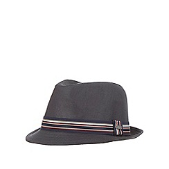 J by Jasper Conran - Black striped trilby hat