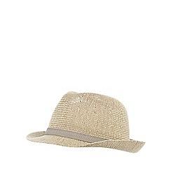 J by Jasper Conran - Beige waffle straw hat