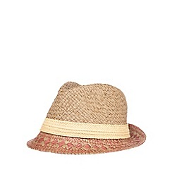 Debenhams - Brown straw trilby