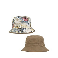 Mantaray - Khaki car print reversible bucket hat