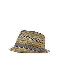 Red Herring - Beige oil brimmed trilby hat