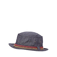 Red Herring - Blue denim pork pie hat