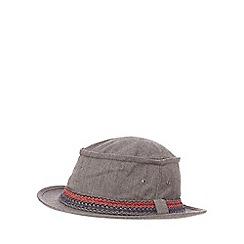 Red Herring - Grey herringbone pork pie hat