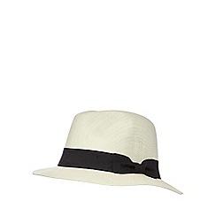 Osborne - Beige band trilby hat