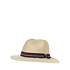 Hammond & Co. by Patrick Grant - Beige palm brimmed hat