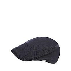 J by Jasper Conran - Navy textured flat cap