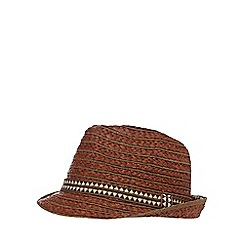 Mantaray - Brown rustic tribal band hat
