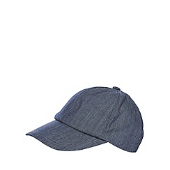 Mantaray - Navy chambray baseball cap