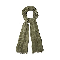 Red Herring - Khaki textured scarf