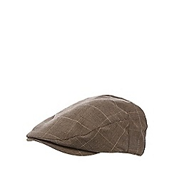 RJR.John Rocha - Brown checked flat cap