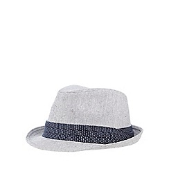 The Collection - Grey canvas trilby hat