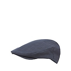 Osborne - Navy checked flat cap