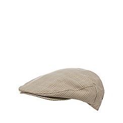 Osborne - Brown dogtooth flat cap