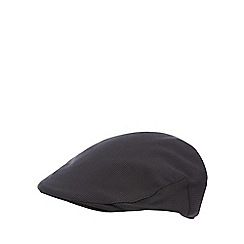 Osborne - Dark grey dogtooth flat cap
