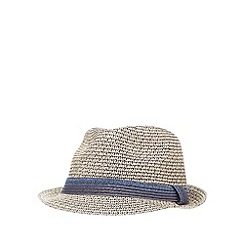 J by Jasper Conran - Beige two tone trilby hat