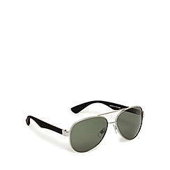 Mantaray - Grey polarised tinted aviator sunglasses