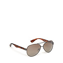 Mantaray - Brown polarised aviator sunglasses