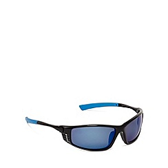 Mantaray - Blue polarised tinted wrap-around sunglasses