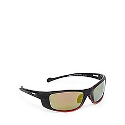 Mantaray - Red polarised ombre-effect wrap-around sunglasses