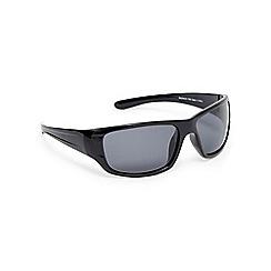 Mantaray - Black polarised wrap-around sunglasses