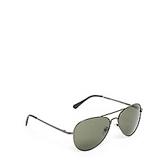 The Collection - Green tinted aviator sunglasses