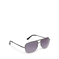 Red Herring - Grey tinted semi rimless aviator sunglasses